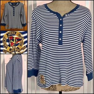 American Living Co. Pinstripes knit shirt